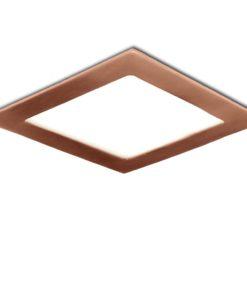 LED Downlight Slimline Quadrado 170X170Mm 12W 860Lm 50.000HBronze