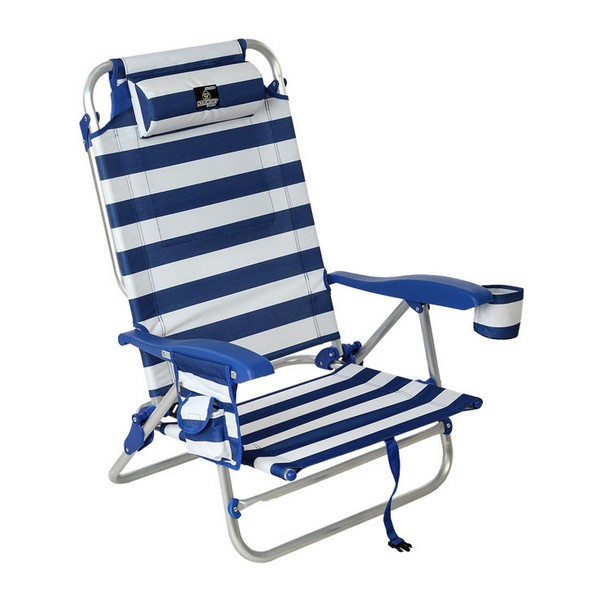 Cadeira de praia Azul Branco (85 X 60 x 56 cm)
