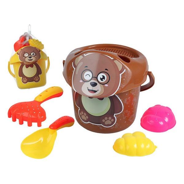 Conjunto de brinquedos de praia Teddy Bear (6 pcs)