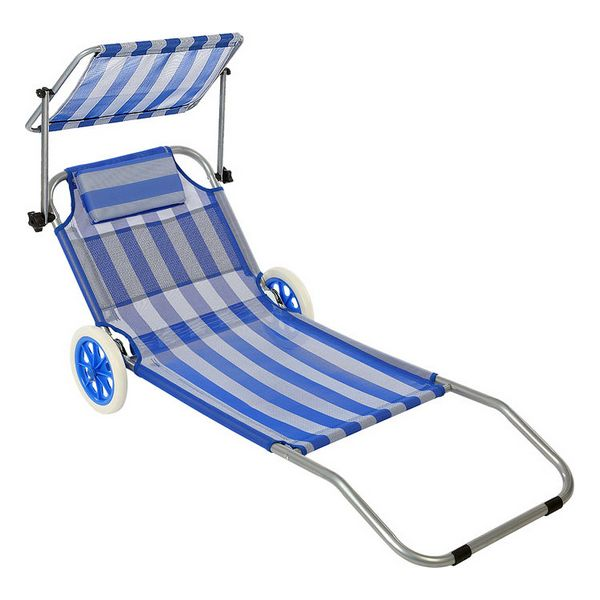 Espreguiçadeira de praia (150 x 52 x 62 cm)