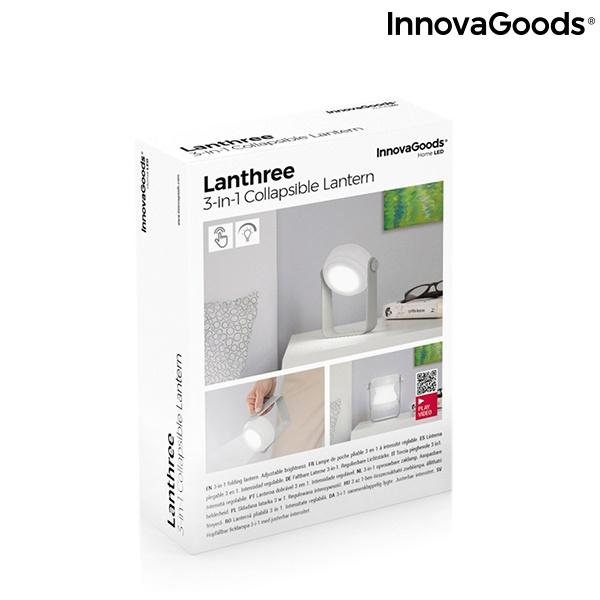 Lanterna e Lâmpada Dobrável 3 em 1 Lanthree InnovaGoods