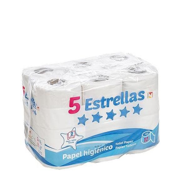 Papel Higiénico 5 Estrellas (Pack de 12)