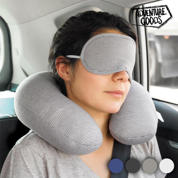 Almofada Cervical e Máscara de Viagem Adventure Goods