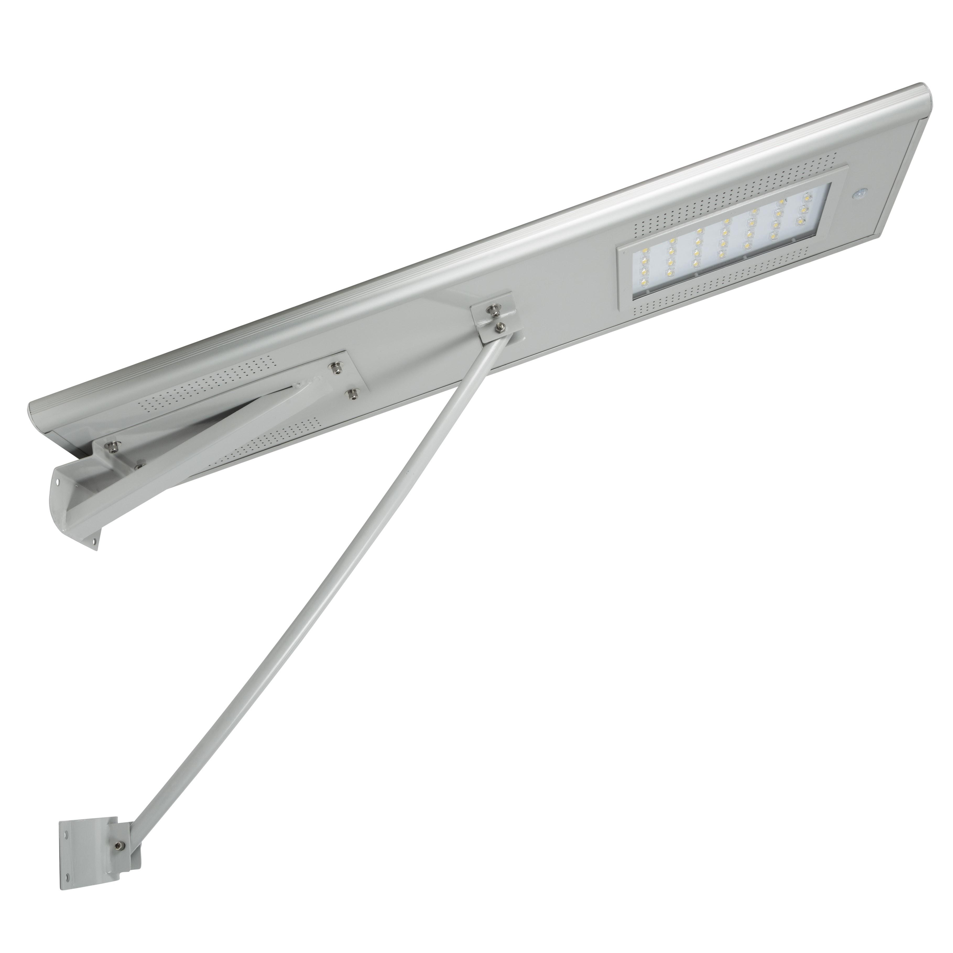 Iluminação Pública LEDSolar (Panel 18V-65W) 25W 2600Lm 40-50 H