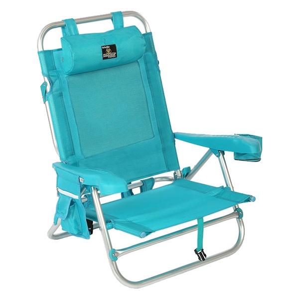 Cadeira de Campismo Acolchoada Turquesa