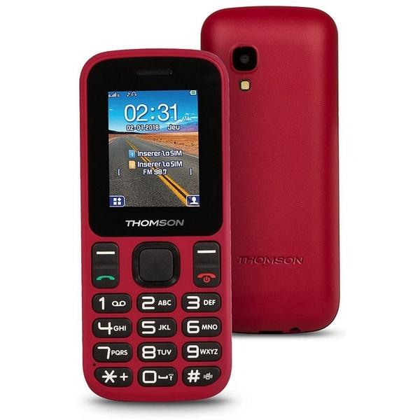 "Telefone Móvel para Idosos Thomson TLINK T12 1,77"" Bluetooth VGA FM Vermelho"