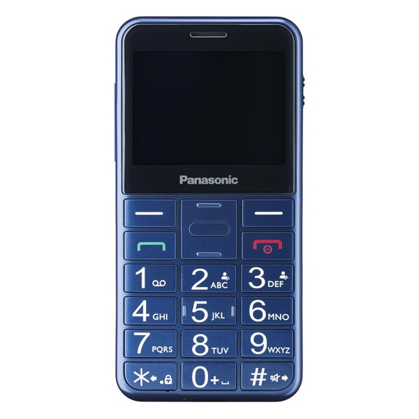 Telefone Móvel para Idosos Panasonic Corp. KX-TU150 TFT LCD Dual SIM Azul