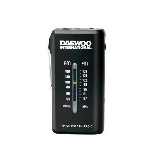 Rádio Transistor Daewoo DRP-9 AM FM Preto