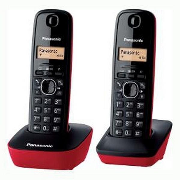 Telefone sem fios Panasonic Corp. KX-TG1612SPR DECT Negro (2 Pcs)