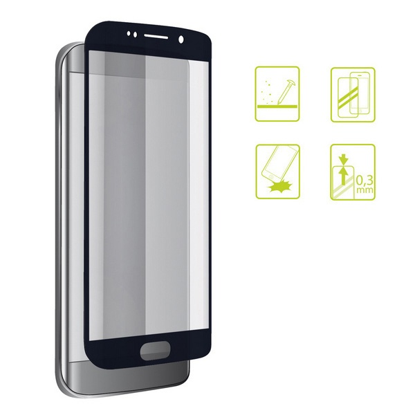 Protetor de vidro temperado para o telemóvel Galaxy A3 2017 Extreme 2.5D Preto