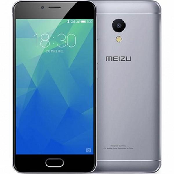 "Smartphone Meizu M5S 5,2"" IPS LCD Octa Core 1.3 GHz 16 GB 2 GB RAM 4G 3000 mAh Preto Cinzento"