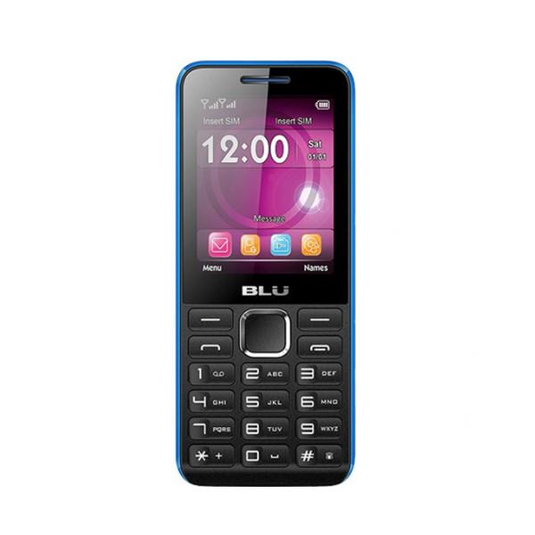 "Telefone Móvel para Idosos Blu TANK II 2,4"" TFT Radio FM Bluetooth 2G Preto Azul"
