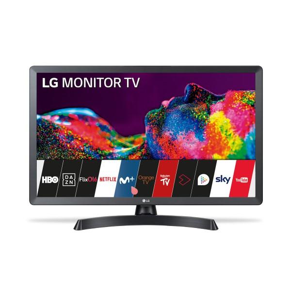 "Smart TV LG 24TN510SPZ 24"" HD Ready LED WiFi Preto"