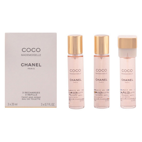 Perfume Mulher Coco Mademoiselle Chanel EDT 3 x 20 ml