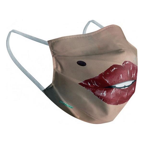 Máscara Higiénica em Tecido Reutilizável Adulto Lábios