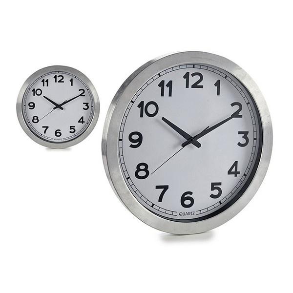 Relógio de Parede Prata 60 cm