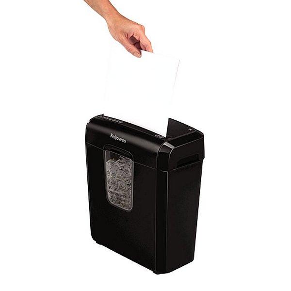 Trituradora de Papel Micro-Corte Fellowes 4687401 11 L 6 Folhas Preto