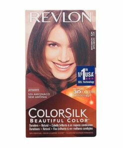 Tinta Sem Amoníaco Colorsilk Revlon Castanho claro