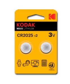Lítio CR2025 Kodak ULTRA MAX LITHIUM 3V (2 uds)