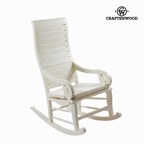 Cadeira de baloiço Teca Branco (113 x 110 x 55 cm) by Craftenwood