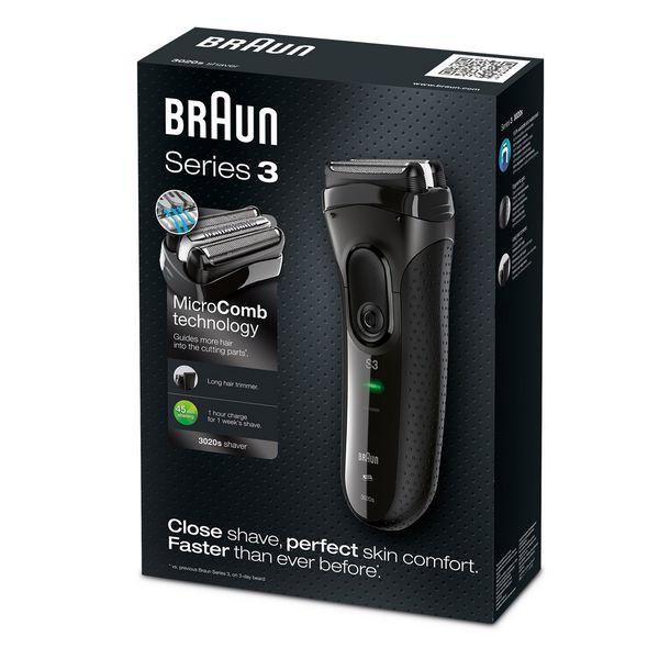 Máquina de Barbear Braun 3020S Preto