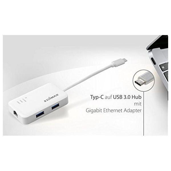 Adaptador USB para Ethernet Edimax EU-4308 USB 3.0