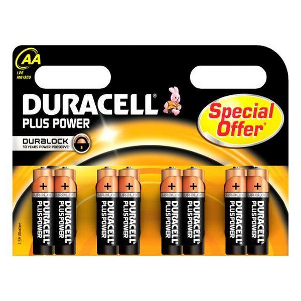 Pilhas Alcalinas DURACELL Plus Power DURLR6P8B LR6 AA 1.5V (8 pcs)
