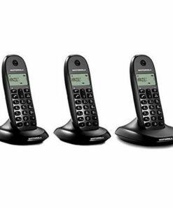 Telefone sem fios Motorola E07000D48B3AES03 (3 Pcs) Preto