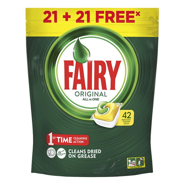 Pastilhas para Máquina de Lavar Louça Lemon Fairy (42 uds)