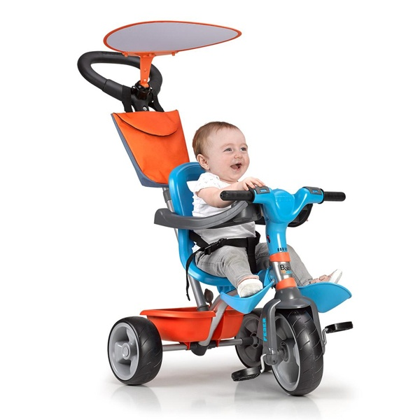 Triciclo Feber Baby Plus Music Azul Laranja