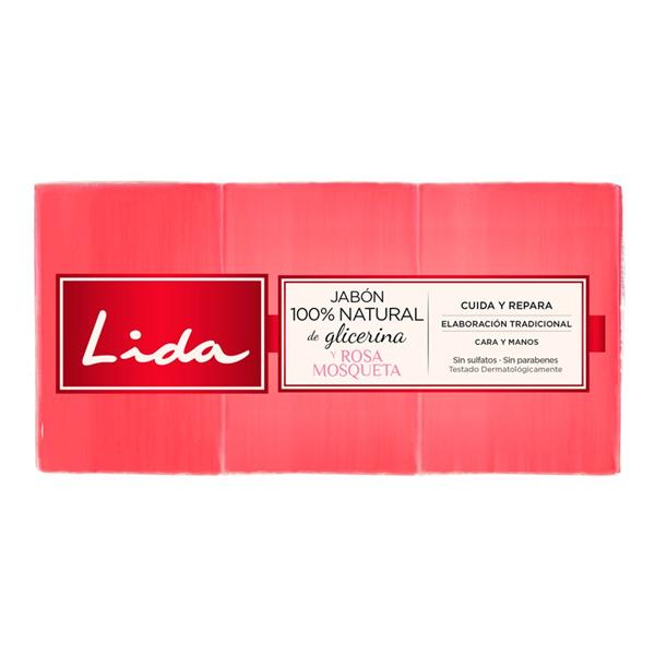 Sabonete de Glicerina e Rosa Mosqueta Lida (3 pcs)