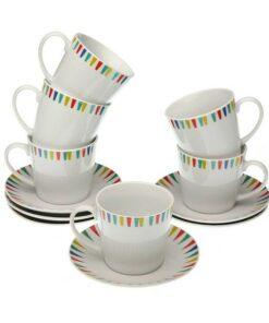 Conjunto de Chávenas de Café Porcelana (6 Peças)