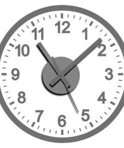 Relógio de Parede Autocolante Prata
