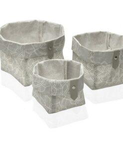 Conjunto de Cestas Mandala Têxtil Poliéster (3 Peças) (14 x 14 x 14 cm)