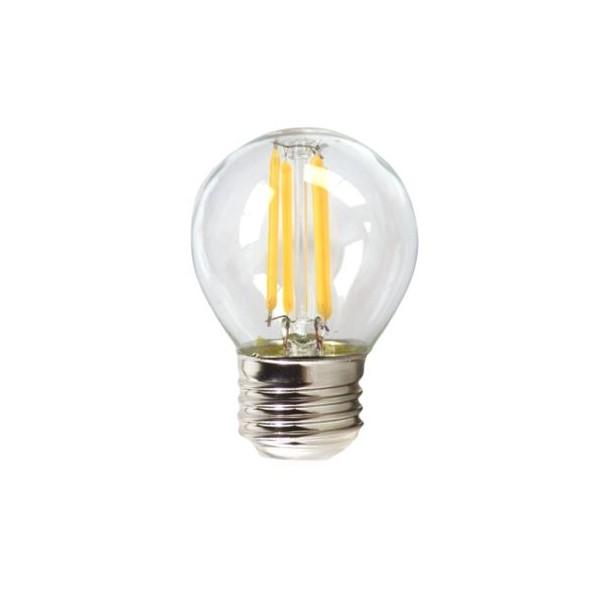 Lâmpada LED esférica Silver Electronics 1960327 E27 4W 3000K A++ (Luz quente)