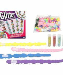 Conjunto de Trabalhos Manuais Glitter Foam Bracelets 119916