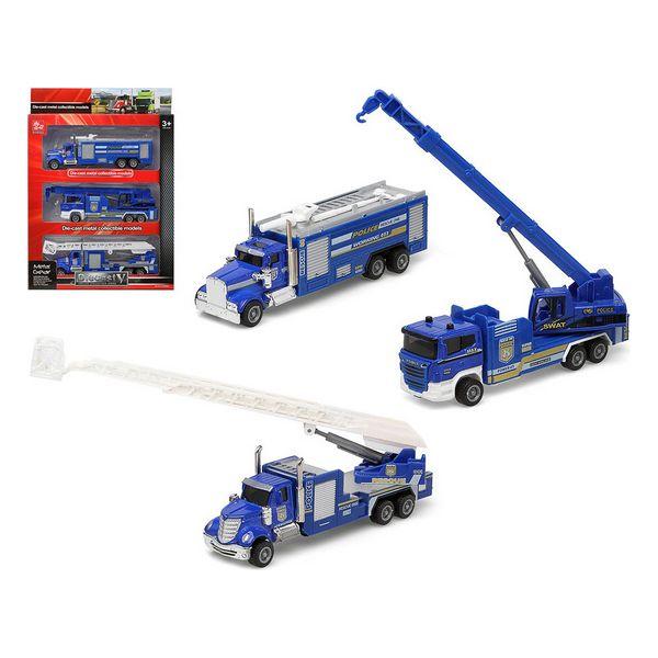 Conjunto veículos Polícia Azul 110905 (3 Pcs)
