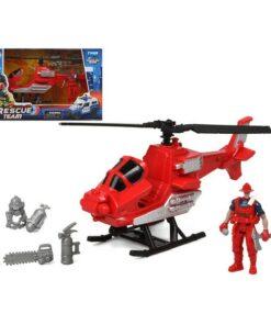 Helicóptero Firefighters Rescue Team Vermelho