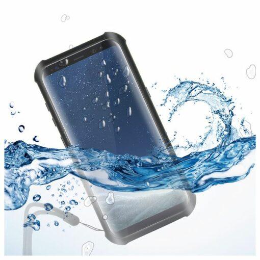 Capa Aquática Samsung Galaxy S8+ KSIX Aqua Case Preto Transparente