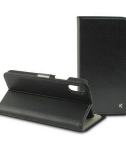 Capa tipo Livro para o Telemóvel Iphone Xs KSIX Preto