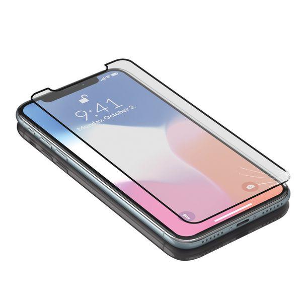 Protetor de vidro temperado para o telemóvel Iphone X-xs KSIX Armor Preto
