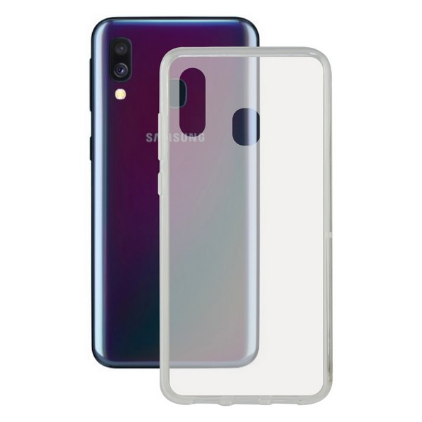 Capa para Telemóvel Galaxy A40 KSIX Flex Transparente