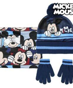 Gorro, Luvas e Gola Mickey Mouse 74325 Azul marinho (3 Pcs)
