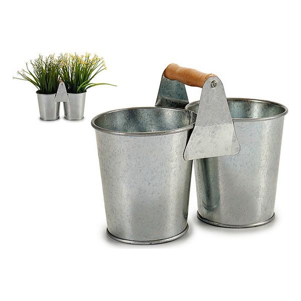 Plantador Zinco (10,2 x 15 x 20 cm)