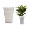 Vaso Branco Plástico Branca