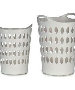 Cesto Branco Plástico (44 x 56 x 44 cm)
