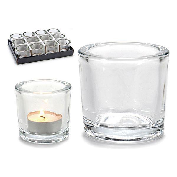 Castiçais Cristal Transparente (6,5 x 6 x 6,5 cm)