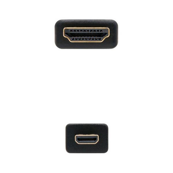 Cabo HDMI para Micro HDMI NANOCABLE 10.15.3501 Preto (0,8 m)