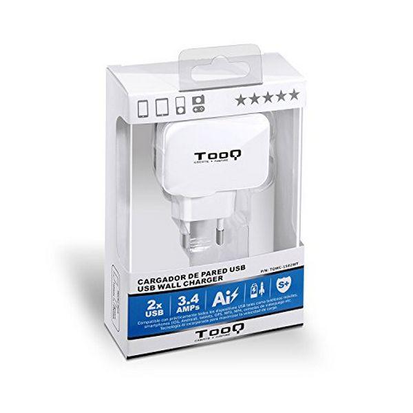 Carregador de Parede TooQ TQWC-1S02WT USB x 2 17W Branco