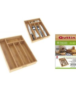 Organizador de Talheres Quttin Bambu (34 X 26 x 4 cm)